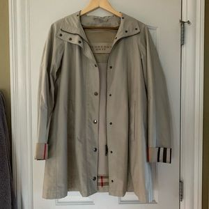 Burberry Brit trench coat with liner size 4
